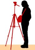 Photographer and tripod Royalty Free Stock Image