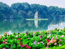 Turtle Tower in Ho Guom. Capital of Hanoi, Viet Nam Stock Photos