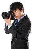 Photographer using dslr camera Royalty Free Stock Photos