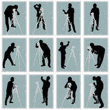 Photographer vector set. Vector set of photographer silhouettes Royalty Free Stock Photography