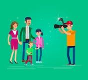 Photographer and videographer Stock Photo