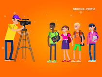 Photographer and videographer Royalty Free Stock Photo