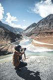Photographer and View of landscape at Leh Ladakh District ,Norther part of India