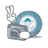 Photographer Waves coin mascot cartoon. Vector illustration Royalty Free Stock Photos
