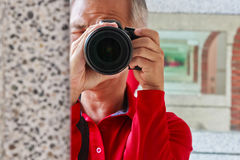 Photographer who taking pictures Stock Photos