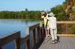 Photographer at Wildlife Refuge Royalty Free Stock Photography