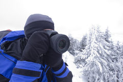 Winter photographer Stock Images