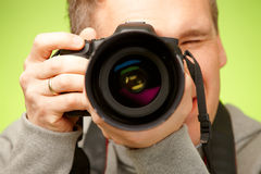 Photographer With Camera Royalty Free Stock Photos