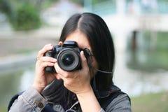 Photographer woman Stock Photography