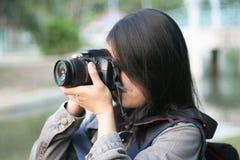 Photographer woman Royalty Free Stock Photos