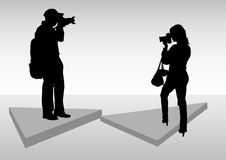 Photographer work Royalty Free Stock Image