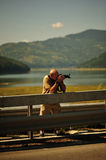 Photographer at work Royalty Free Stock Photo