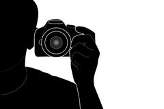 Photographer in the work Royalty Free Stock Photos