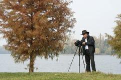 Photographer at work Royalty Free Stock Photos