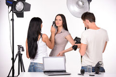 Photographer At Work Royalty Free Stock Photography