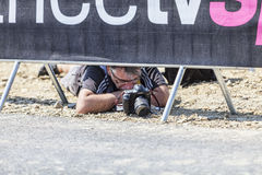 Photographer at Work - Tour de France Royalty Free Stock Photos