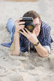 Photographer Work With Camera Royalty Free Stock Photo