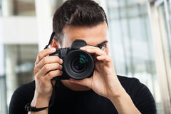 Photographer at work Royalty Free Stock Images