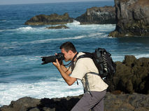 Photographer working Royalty Free Stock Images