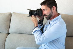 Photographer working Stock Photography