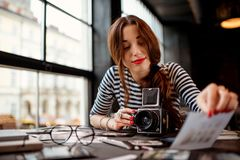 Photographer working Royalty Free Stock Photos