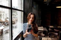 Photographer working Stock Photography