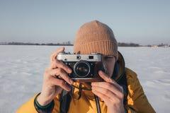 Photographer taking photo Stock Photo