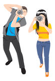 Photographers stock illustration