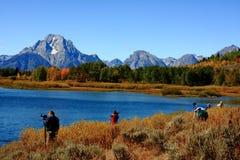 Free Photographers At Oxbow Bend, Grand Teton National Park Stock Photo - 152591850