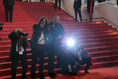 Photographers. Attends 'The Unknown Girl (La Fille Inconnue)' Premiere duirng the annual 69th Cannes Film Festival at Palais des Festivals on May 18, 2016 in stock image