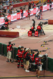 Photographers and cameramen at the IAAF World Championships Beijing 2015 Royalty Free Stock Photography