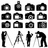 Photographers and cameras vector Royalty Free Stock Image