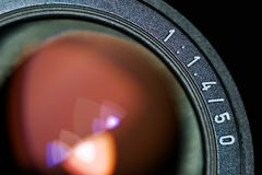 Photographers classic eye. Last generation of photographers' classic eye - lens that most professionals use Royalty Free Stock Photography