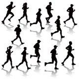 Running people stock illustration