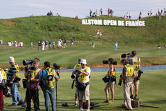 Photographers at the golf french open 2015 Royalty Free Stock Image