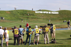 Photographers at the golf french open 2015 Royalty Free Stock Photography