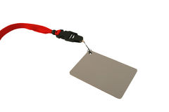 Photographers grey card withe red lanyard Stock Image
