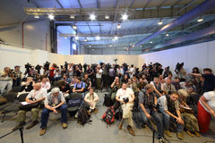 Photographers and journalists at second International Forum Royalty Free Stock Photo