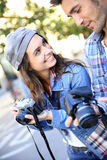 Photographers making photo reportage Royalty Free Stock Photography