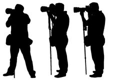 Photographers with monopod Royalty Free Stock Photo