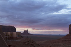 Photographers at Monument Valley Visitors Center at Sunset Stock Images