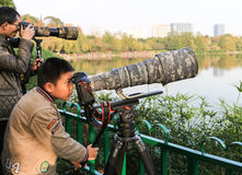 Photographers in the park,chengdu,china Stock Image