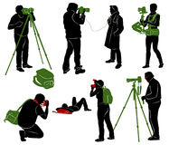 Photographers. Part 2 Royalty Free Stock Photography
