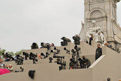 Photographers at Prince William and Kate Middleton Royalty Free Stock Images