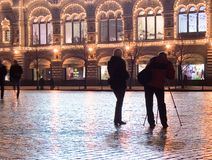Photographers Red Square Stock Photo