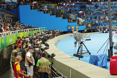 Photographers at Rio2016 Olympics. Photographers at Rio2016 XXXI Summer Olympics,Brazil. Picture taken Aug 18, 2016 Royalty Free Stock Photo