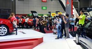 Photographers shoot MG6 Model Stock Photo