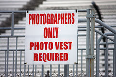 Photographers sign Stock Photo