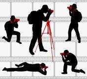 Photographers silhouettes Stock Image