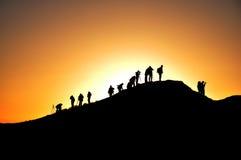 Photographers and sunrise Stock Photo